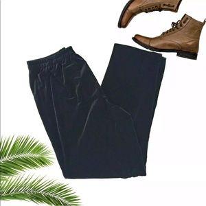 R & M Richards Black Velvet Soft Dress Pants